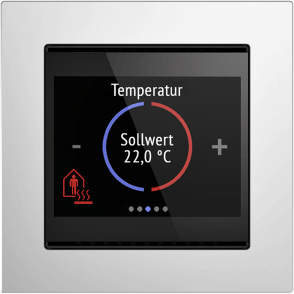 Cala KNX black, example temperature